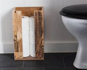 Toilette Mit Bd : toilet roll storage reclaimed wood bathroom storage wc ~ Lizthompson.info Haus und Dekorationen