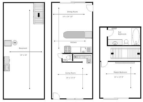 One Bedroom Townhomes by Gdi Properties Manor Townhomes 1 Bedroom Floorplan