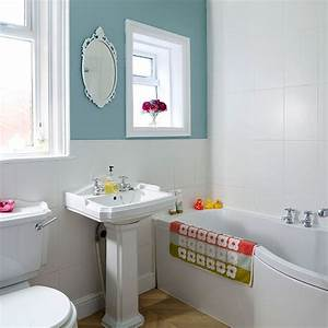 Duck egg blue and white bathroom Ideal Home