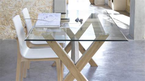 table  manger verre  bois