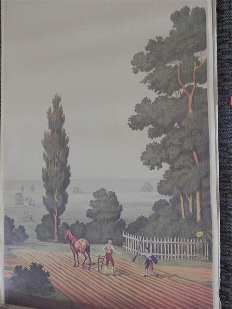 full room vintage wallpaper murals   schmitz horning