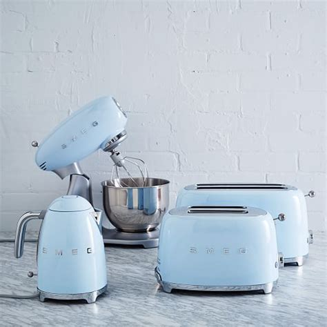 electric blue kitchen accessories smeg toaster 4 slice west elm 7039