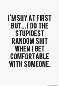 Funny Quotes About Being Shy