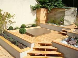 terrasse bois jacuzzi patio pinterest terrasse bois With jacuzzi exterieur sur terrasse