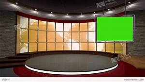 News TV Studio Set 38 Virtual Green Screen Backgro Stock ...