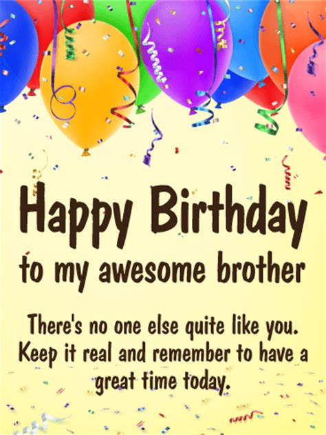 great time happy birthday card  brother