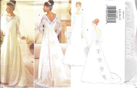 Uncut Vintage Butterick Sewing Pattern Misses Bridal Gown