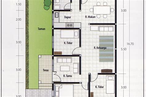 denah rumah  kamar ukuran    desain rumah modern