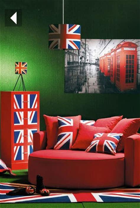 chambre ado style anglais déco chambre drapeau anglais