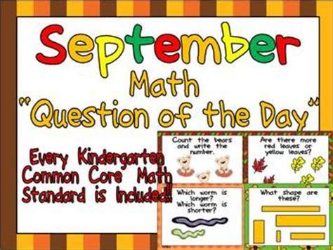 math question of the day kindergarten common for 546 | original 292705 1