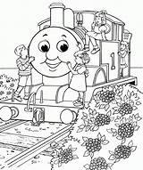 Coloring Thomas Train sketch template