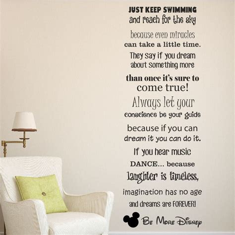 Disney Quotes For Bedroom Walls by Be More Disney Wall Sticker Decal Disney Sayings