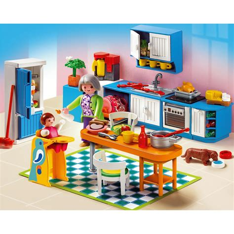 playmobil grande mansion kitchen 5329 20 00 hamleys