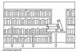 Library Coloring Pages Parts Outline Clipart Week Flashcards National Clip Flashcard Lists Learning Site Sharepoint Printable Tag sketch template