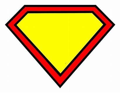 Superman Blank Superhero Symbol Letter Clipart Theme