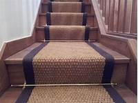 installing carpet on stairs How to Install Wood Stair Runner with Rods : Install ...