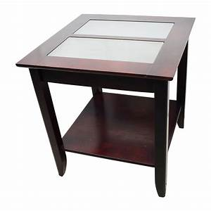 85 off target target glass and wood coffee table tables for Glass inlay coffee table