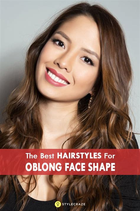 oblong face hairstyles ideas  pinterest
