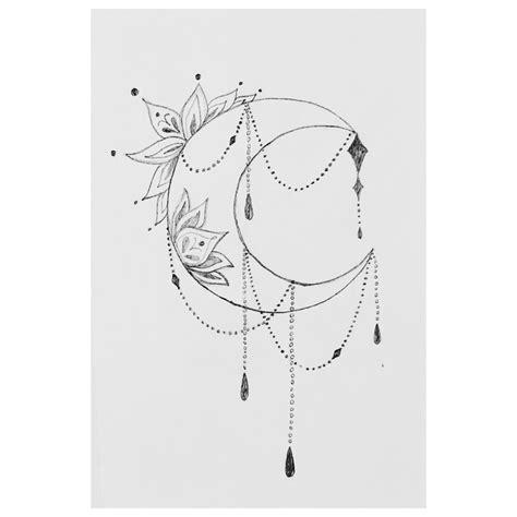 crescent moon drawing tattoo idea sideboob tattoo moon tattoo designs