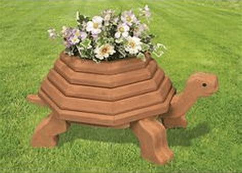 diy wooden turtle planter  garden