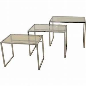 Table A Manger En Verre Ikea : cool ensemble de tables gigognes ikea en chrome et verre ~ Teatrodelosmanantiales.com Idées de Décoration