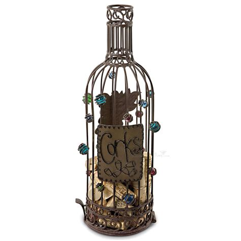 Wine Bottle Cork Holder Wall Decor by Wrought Iron Bottle Wine Cork Cage