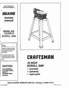 Sears 113 23611 User Manual