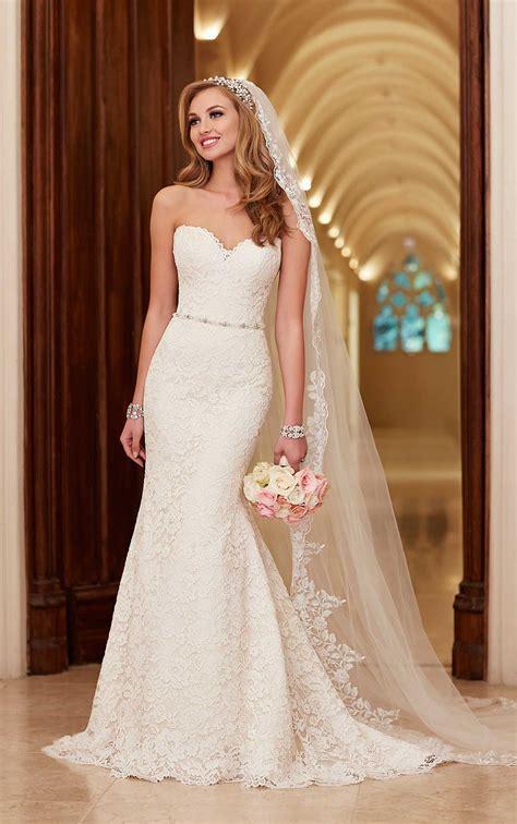 romantic lace  satin wedding dresses stella york