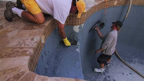 how to do pool resurfacing part two travertine pool