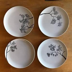 Sets De Table Originaux : set de 4 assiettes plates peintes la main dessins ~ Voncanada.com Idées de Décoration