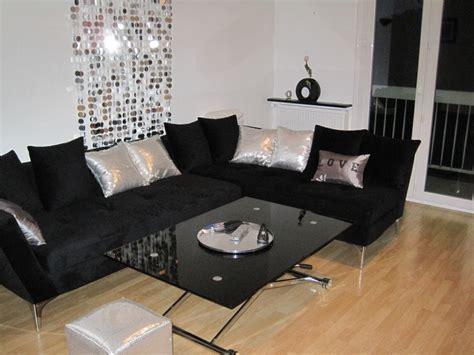 canapé pour chambre décoration salon noir et gris