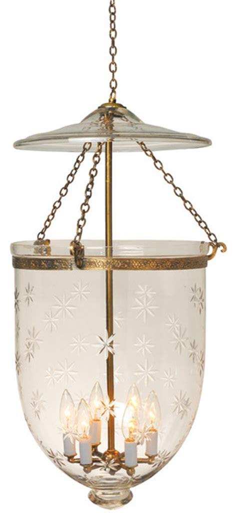 etching hundi glass bell jar lantern 14 quot d antique