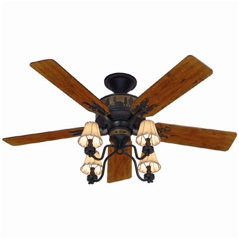 Adirondack Ceiling Fan shop 52 in adirondack bronze ceiling fan with light