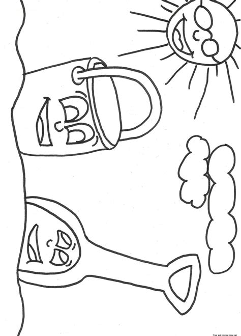 Printable Coloring Pages by Printable Pail And Shovel Coloring Page For Kidsfree