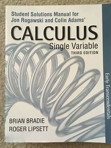 Student Solutions Manual For Calculus Early