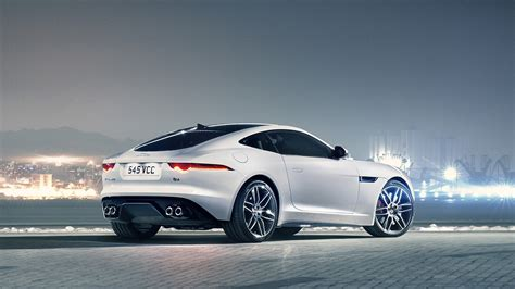 White Jaguar F Type Car Wallpaper