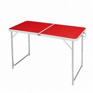 Table De Camping Pliante : table pliante 4 6 pers rouge decathlon ~ Dailycaller-alerts.com Idées de Décoration