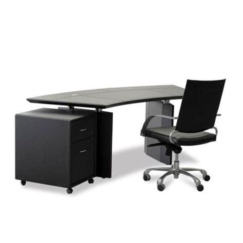 curved executive office desk vitra curved desk in black leather executive desks desks