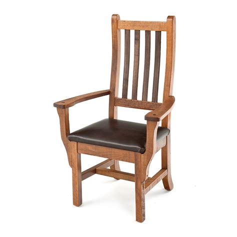 heritage reclaimed barn wood arm chair leather seat