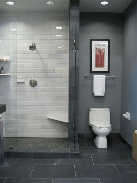 bathroom tile and paint ideas grey paint white metro tiles grey floor tiles interior design pinterest contemporary