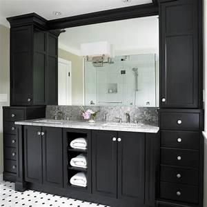 Black bathroom vanity design ideas for White bathroom vanity with black countertop