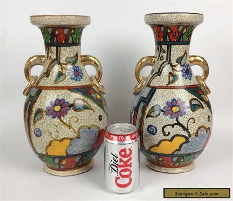 vintage vases for sale pair antique crackle glaze vases vintage