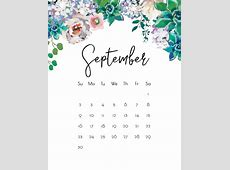 September 2018 Calendar Latest Calendar