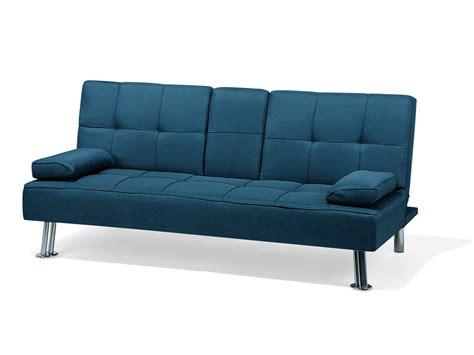 Divano Letto Moderno In Tessuto Blu Verde Roxen