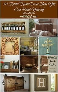 40 Rustic Home Decor Ideas You Can Build Yourself - DIY