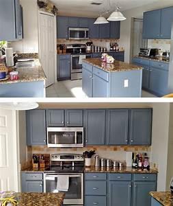 kitchen makeover in gray gel stain 874