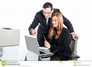 Young Business People Working On Laptop Stock Photo ...