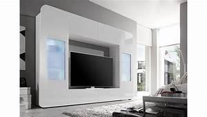 Wohnwand In Weiß Hochglanz : mediawand kino 2 wohnwand wei hochglanz tv bis 60 zoll ~ Bigdaddyawards.com Haus und Dekorationen