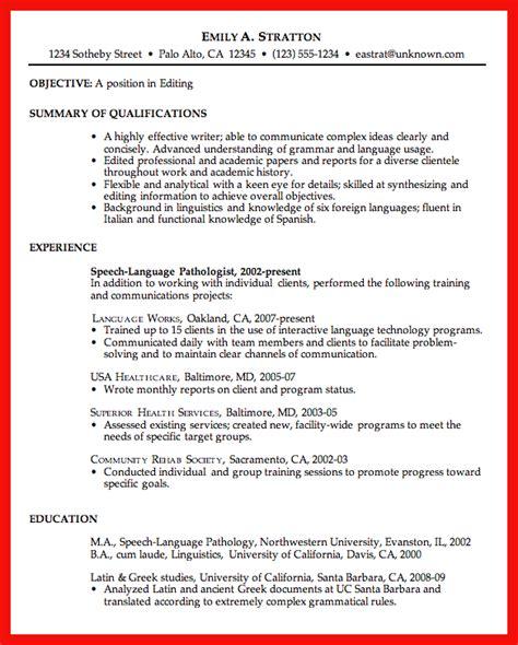 excellent resume