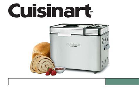 cuisine arte cuisinart bread maker cbk 200c user guide manualsonline com